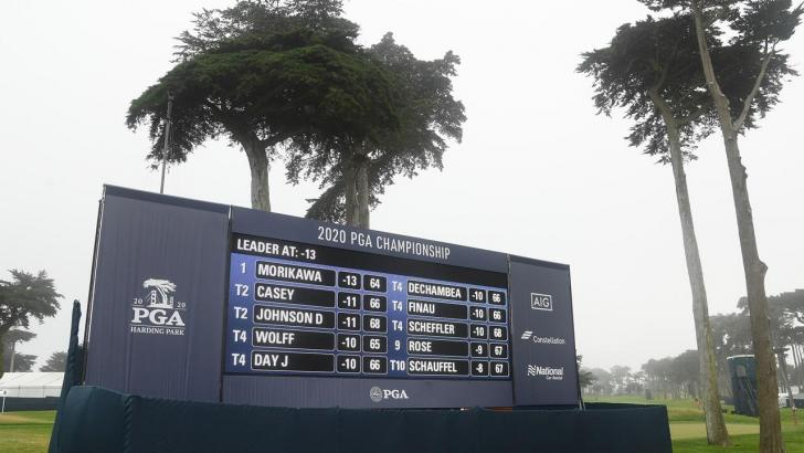 The final leaderboard at Harding Park
