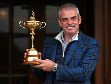 Paul McGinley with the Ryder Cup this morning