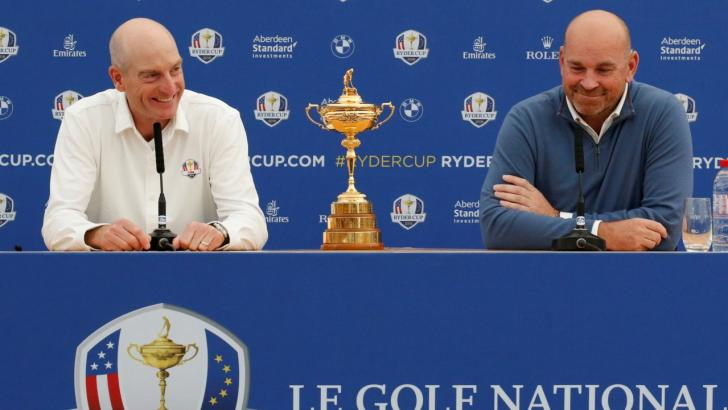 Ryder Cup captains Jim Furyk and Thomas Bjorn