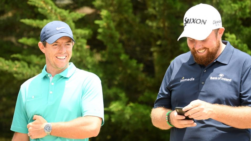 Golfers Rory McIlroy and Shane Lowry
