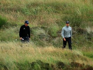 Stenson out in front of Mickelson at Troon today