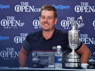 A smiling Henrik Stenson with the Claret Jug