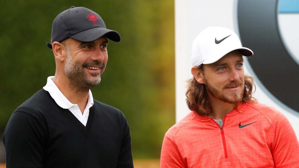 Pep Guardiola and Tommy Fleetwood