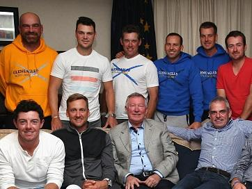 European champion...Sir Alex Ferguson with some of the Ryder Cup stars