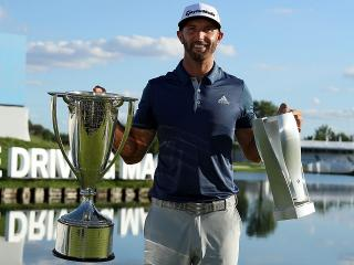 Dustin Johnson after the BMW Championship
