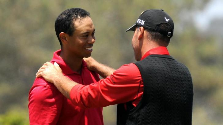 Tiger Woods and Rocco Mediate