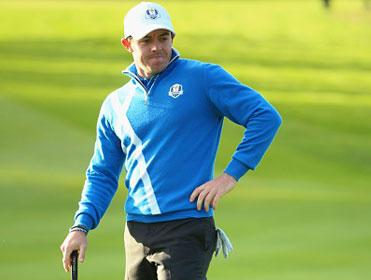 Rory McIlroy looked far from convincing on the first day of the Ryder Cup