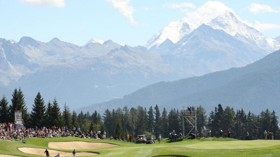 The seventh hole at Crans