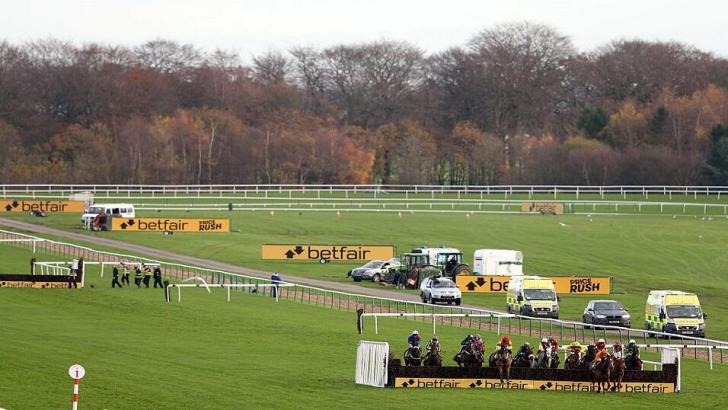 View of Haydock on Betfair Chase day