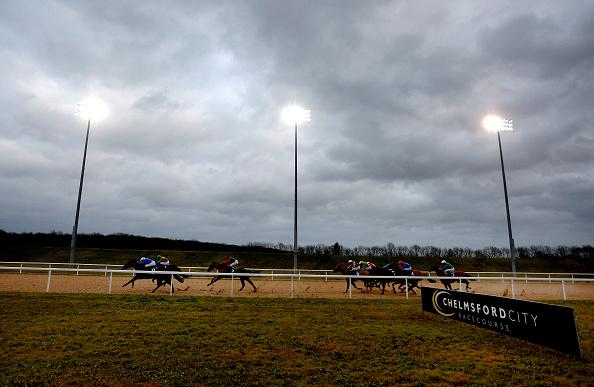 Chelmsford City racecourse under the floodlights