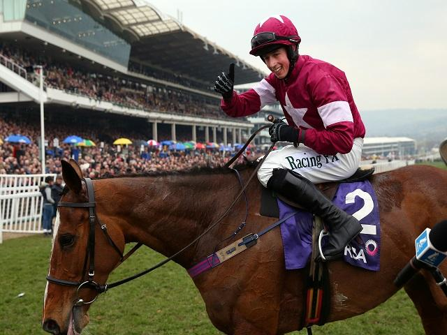 Gordon was delighted with Outlander and Don Poli (pictured) in the Lexus Chase