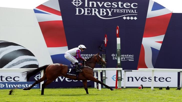 Epsom Derby race finish