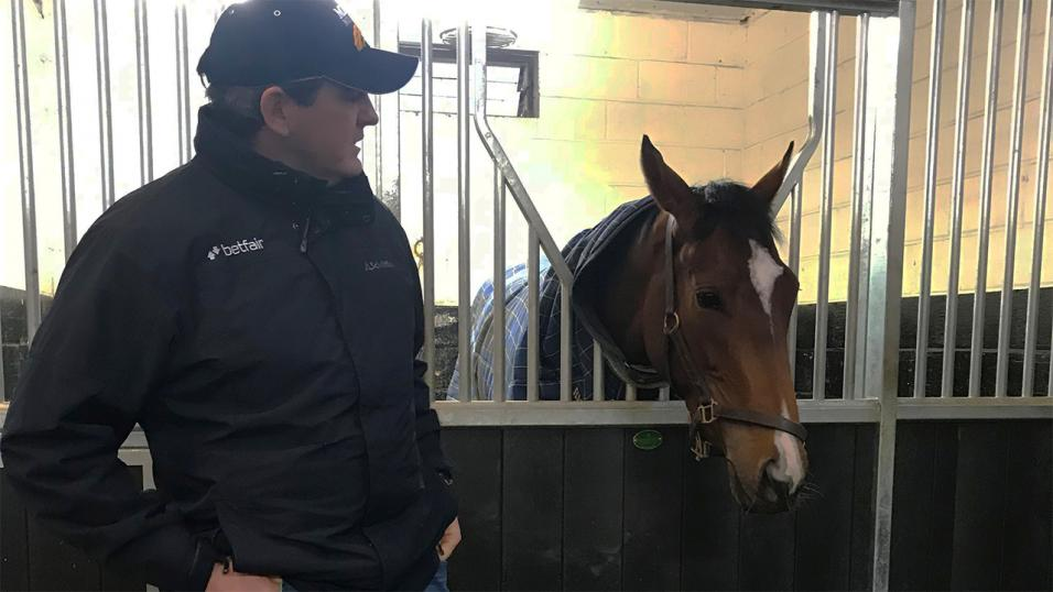 Betfair Ambassador Hugo Palmer at his stables