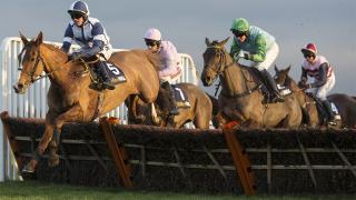 Barry Geraghy riding at Kempton. He rides Master Dee there on Saturday