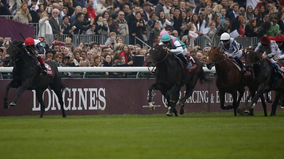Golden Horn win the Arc at Longchamp