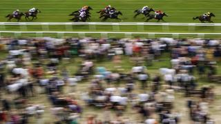 Newbury flat racing action