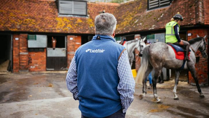 Racehorse trainer Paul Nicholls in his stable