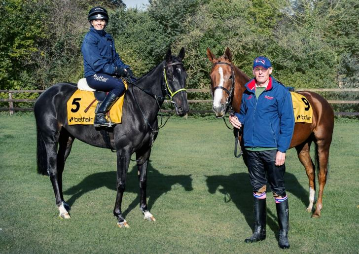 Victoria Pendleton has been doing some schooling for Betfair Ambassador Paul Nicholls