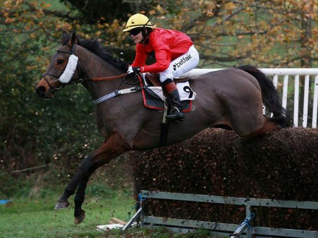 Victoria rode Minella Theatre in her first Point to Point race at Black Forest Lodge
