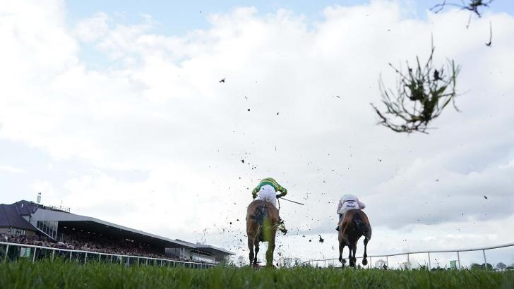 Horses on the run-in at Punchestown