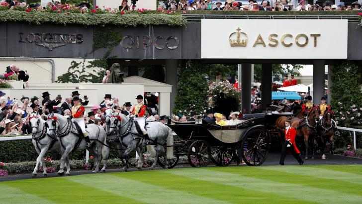 Queen's carriages at Royal Ascot