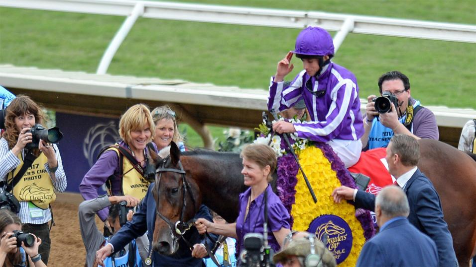 Ryan Moore at the Breeders' Cup