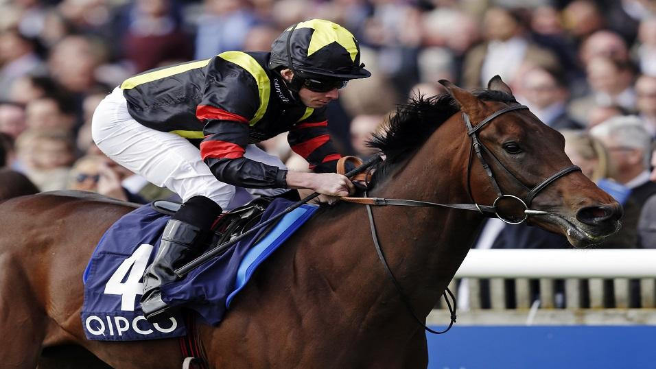 Ryan Moore riding Global Applause to victory at Newmarket two years ago