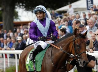 Silvestre de Sousa rides Caramelita at Yarmouth today