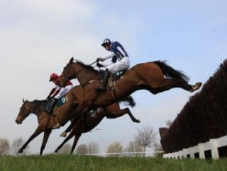 Teaforthree (nearside) raced and jumped with élan in last year's race, but found less than expected after the last