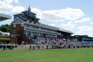 The beautiful grandstand at Thirsk