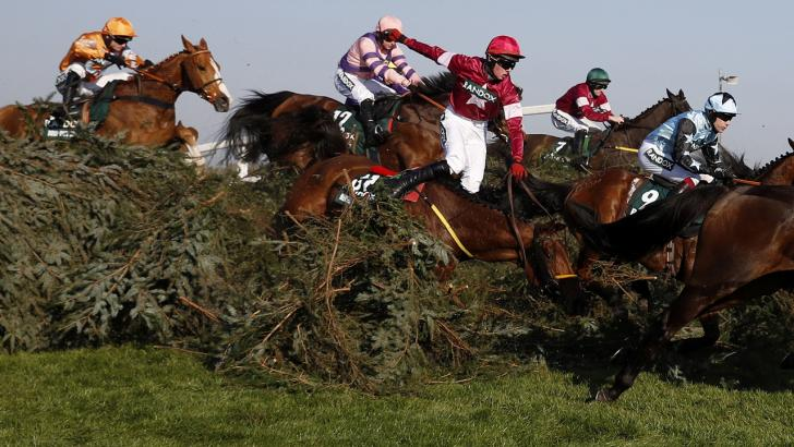 Grand National fence action
