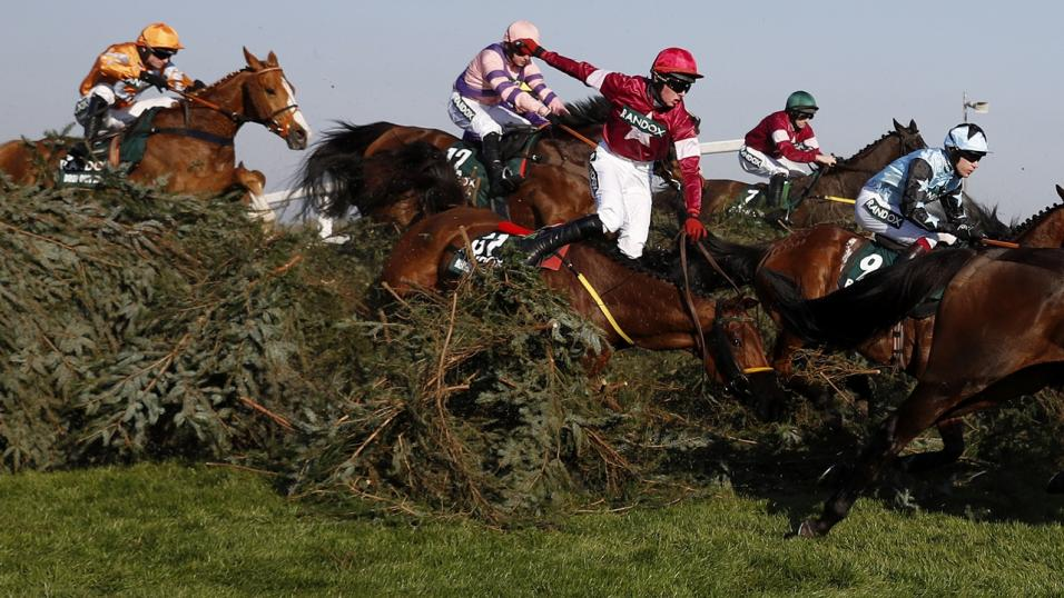 The National fences at Aintree
