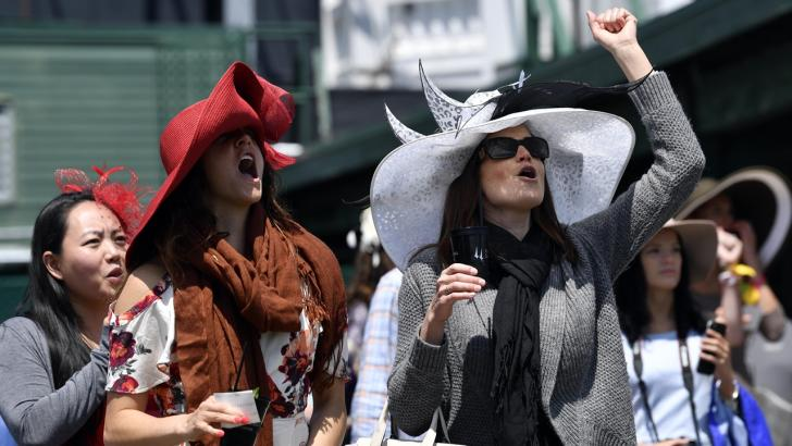Fans at the Breeders' Cup