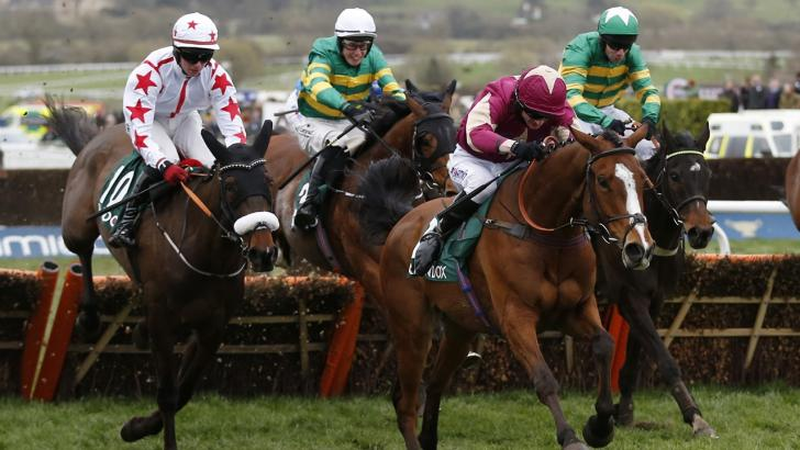 Cheltenham race action