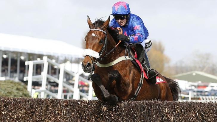Cue Card is bidding to equal Kauto Star's record of four Betfair Chase wins
