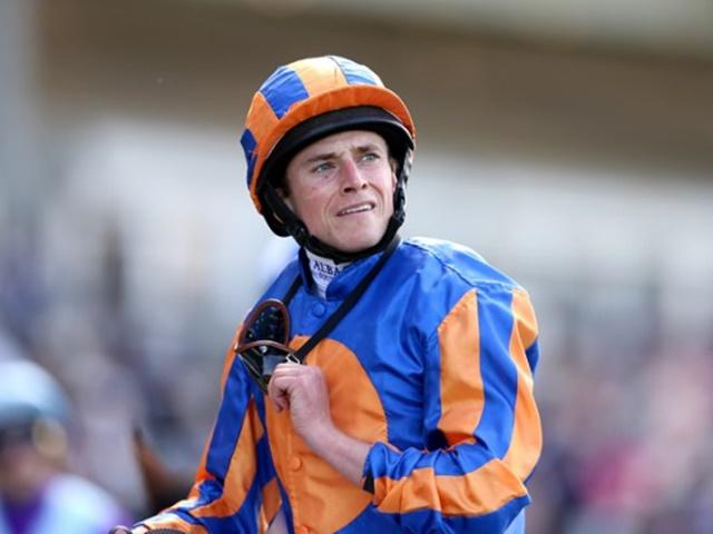 Ryan Moore will don the blue and orange silks aboard Churchill in the Juddmonte International