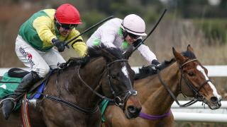 Supasundae (L) in the Irish Champion Hurdle