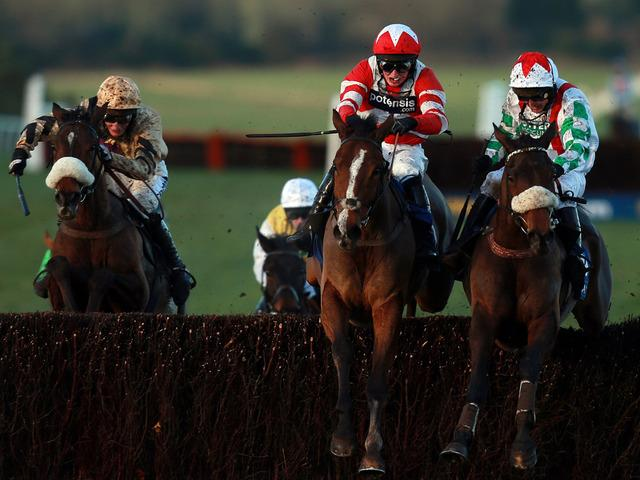 Mountainous (right) winning his first Welsh National in 2013