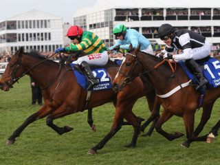 The front three from the Pertemps Final at the Cheltenham Festival are back in today's final race on the Aintree card