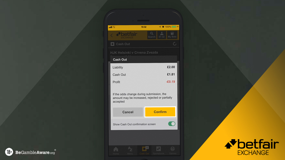 Matched betting betfair cash out mgm betting odds