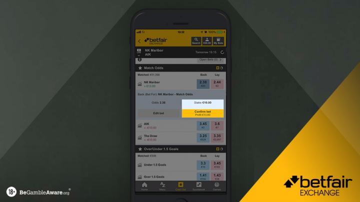 Betfair mobile free betting betting bangarraju neelamegam