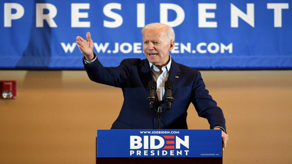 Biden is now the frontrunner to face Trump in the election