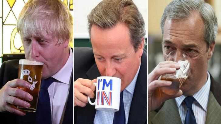 Boris Johnson, David Cameron and Nigel Farage