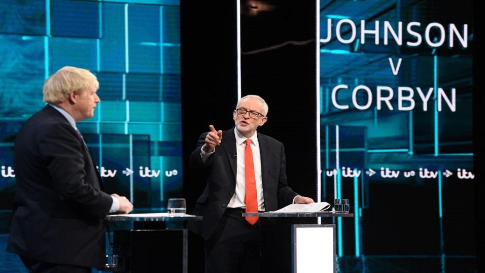 Boris Johnson and Jeremy Corbyn in debate