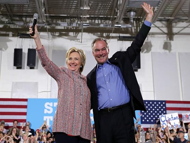 Clinton and Kaine are rated 70% likely to be the next Presidential team