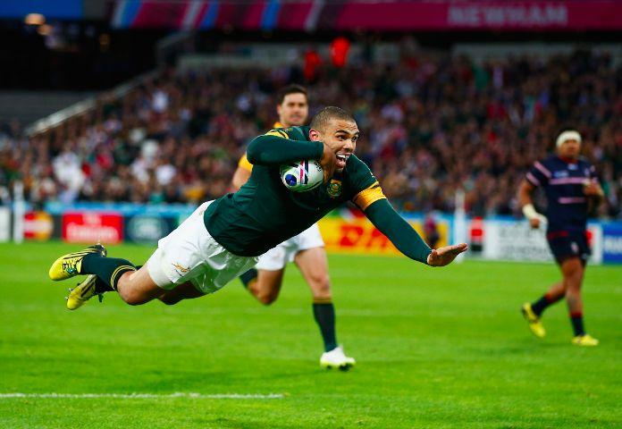 Bryan Habana needs one more try to claim the record as RWC's all-time leading tryscorer