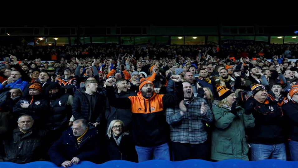 Castleford Tigers fans cheer on their team