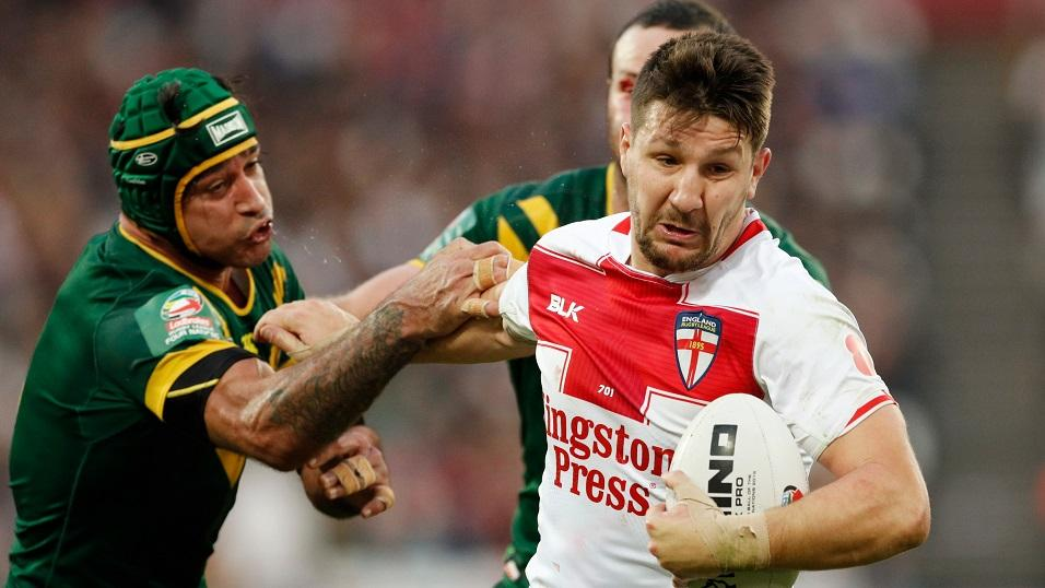 Gamble . . . Gareth Widdop hasn't played at full back for England since 2010.