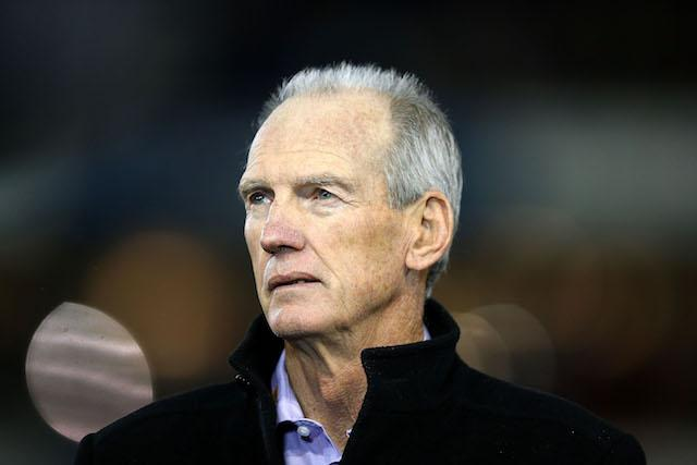 England head coach Wayne Bennett will be hoping for a convincing victory against Scotland this afternoon
