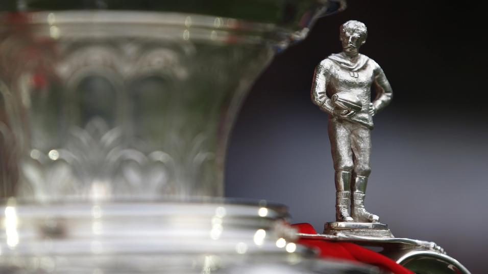 The top of the Challenge Cup trophy